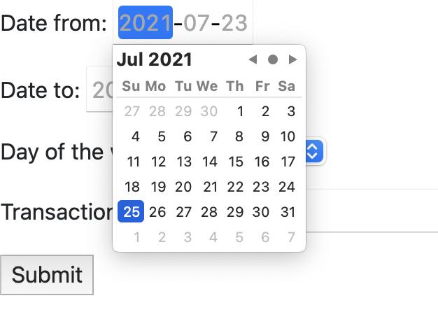 html5 date picker in Django form